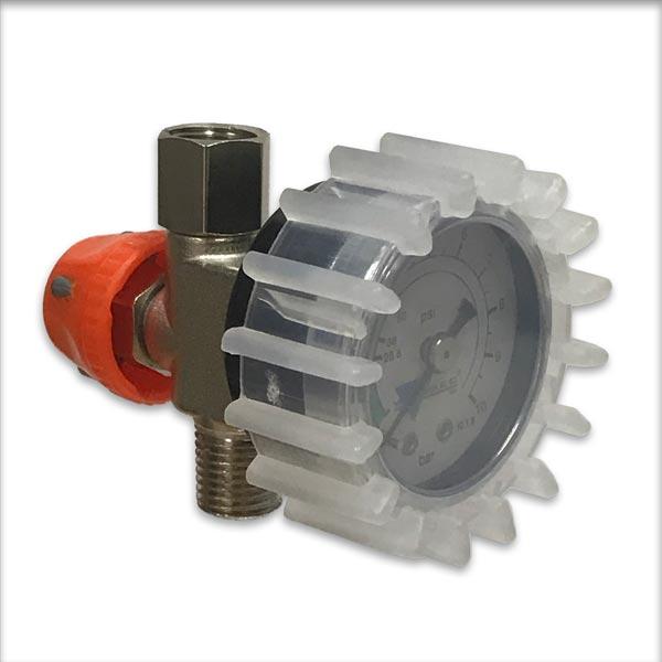 Spray gun air regulator & guage